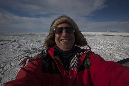 Scott Portelli takes a selfie on a sub-Antartic island